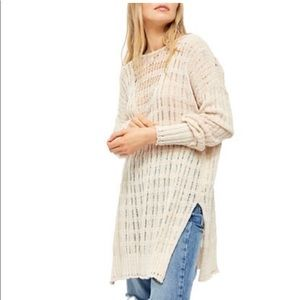 Free People-  Pretty in Pointelle Pullover